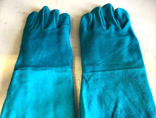 Blue Welding Gloves 8 Inch
